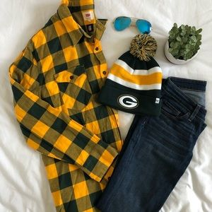 NWOT Green Bay Packers Levi's Plaid Shirt